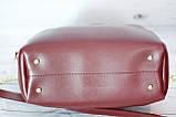 Женская mini сумка Zara, Зара, бордовая, фото 5