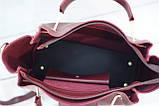 Женская mini сумка Zara, Зара, бордовая, фото 6