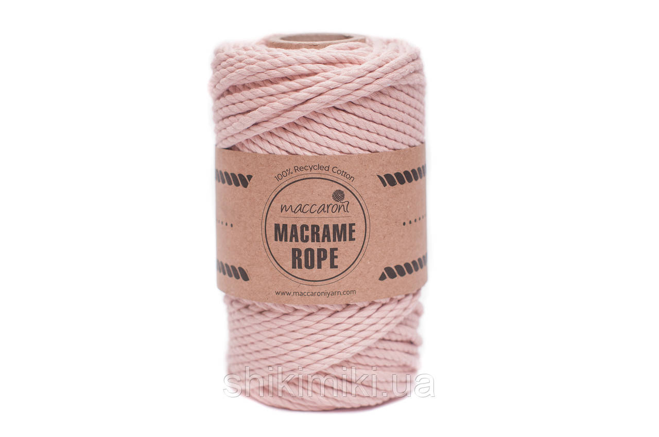 Эко шнур Macrame Rope 4mm, цвет розовая пудра