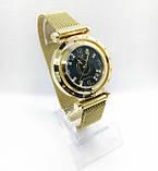 Женские наручные часы Pandora (Пандора), золото с черным циферблатом, фото 2