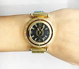 Женские наручные часы Pandora (Пандора), золото с черным циферблатом, фото 4