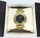 Женские наручные часы Pandora (Пандора), золото с черным циферблатом, фото 5