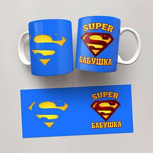 Чашка, Кружка Супер бабушка