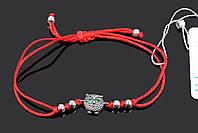 Красный браслет на запястье Сова Aurora универсальный размер 75122з