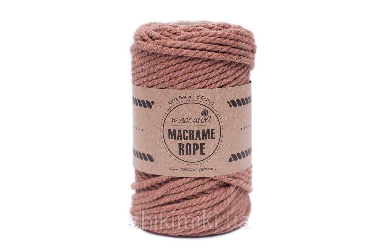 Эко шнур Macrame Rope 4mm, цвет Корица