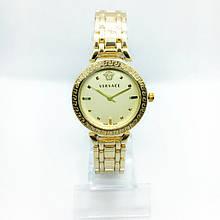 Женские наручные часы Versace (Версаче), золото с желтым циферблатом