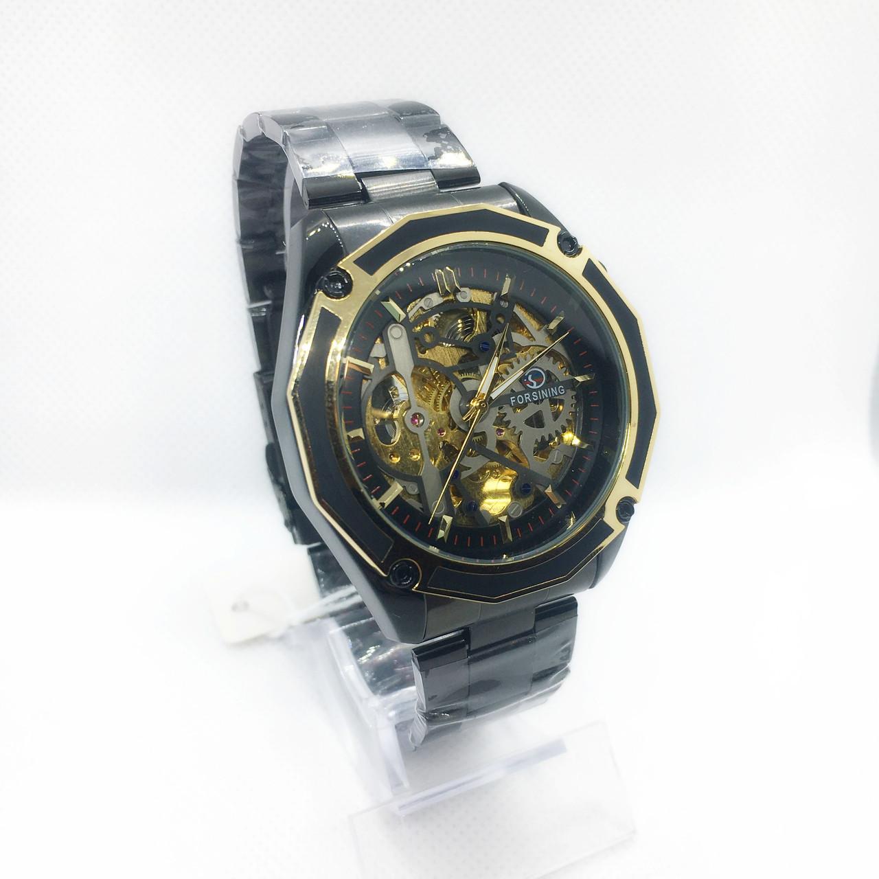 Механические наручные часы Forsining, черные