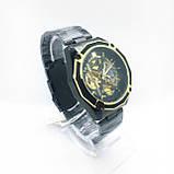 Механические наручные часы Forsining, черные, фото 3
