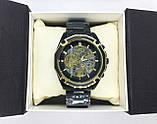 Механические наручные часы Forsining, черные, фото 6