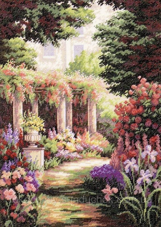 Набір для вишивання хрестом Classic Design 4480 Квітковий дворик