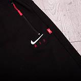 Чоловічі трикотажні шорти Nike, світло-сірого кольорую великого розміру, фото 8