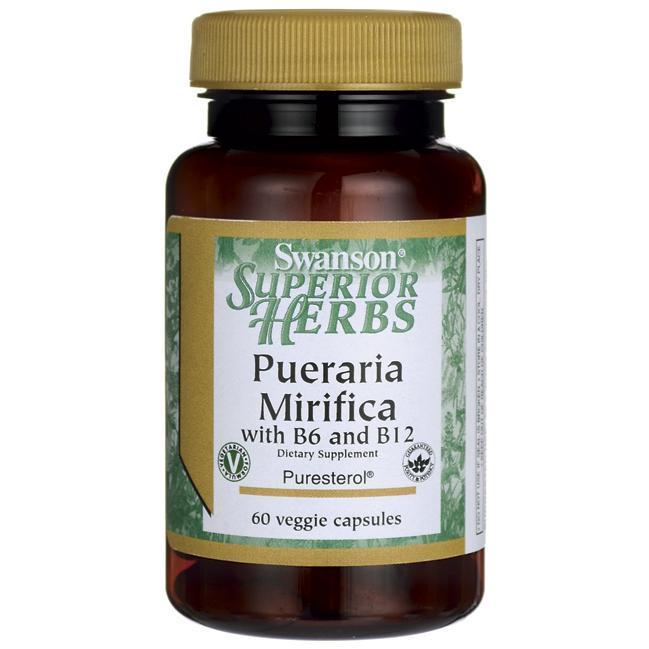 Swanson Pueraria Mirifica with B6 & B12 Пуэрария Мирифика экстракт 60 капсул