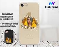 Силиконовый чехол для Apple Iphone 8 Билли Айлиш (Billie Eilish) (4022-3393)