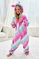 ✅ Детская Пижама Кигуруми Единорог Звездная полоса 110 (на рост 108-118см)