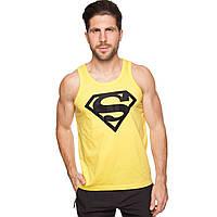 Майка борцовка спортивная мужская SUPERMAN CO-5890-2-Y размер S-XL-42-54 желтый