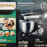 Тестомес 1500 Вт 5 литров (кухонный комбайн) Rainberg RB 8081