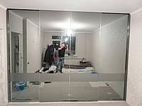 Шкаф купе с системой zola графит + зеркало графит, фото 1
