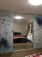 Шкаф купе встроенный с системой zola графит + зеркало графит, фото 1