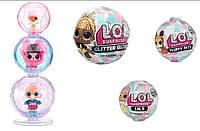 Набор Лол снеговик зимнее диско 3 шарика 6 сезон, L.O.L. Surprise Lils Winter Disco Glitter Globe. ОРИГИНАЛ!!!