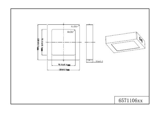 Потолочный светодиодный светильник Trio 657110607 Zeus, фото 2