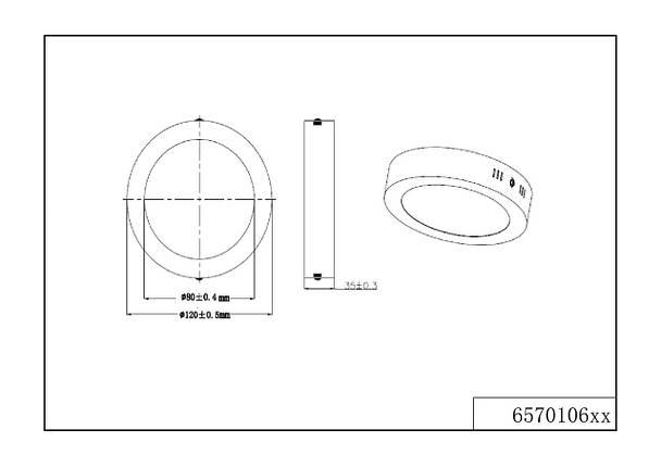 Потолочный светодиодный светильник Trio 657010607 Cento, фото 2