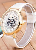 Женские часы Кружево Скелетон белые