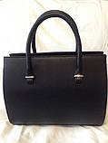 Чёрная каркасная сумка Prada (Прада), замш+кожзам, фото 6