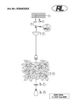 Подвесной светильник Trio R30463001 Nest r30463001, фото 2