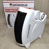 Тепловентилятор спіральний Grunhelm FH-06 (1000/2000Вт, 220В), фото 2