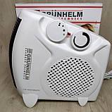 Тепловентилятор спіральний Grunhelm FH-06 (1000/2000Вт, 220В), фото 4