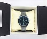 Женские наручные часы в стиле Саlvin Кlein (Кельвин Кляйн), серебро с черным циферблатом, фото 5