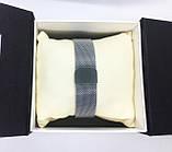 Женские наручные часы в стиле Саlvin Кlein (Кельвин Кляйн), серебро с черным циферблатом, фото 6