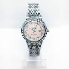 Женские наручные часы Rolex (Ролекс), серебро с розовым циферблатом