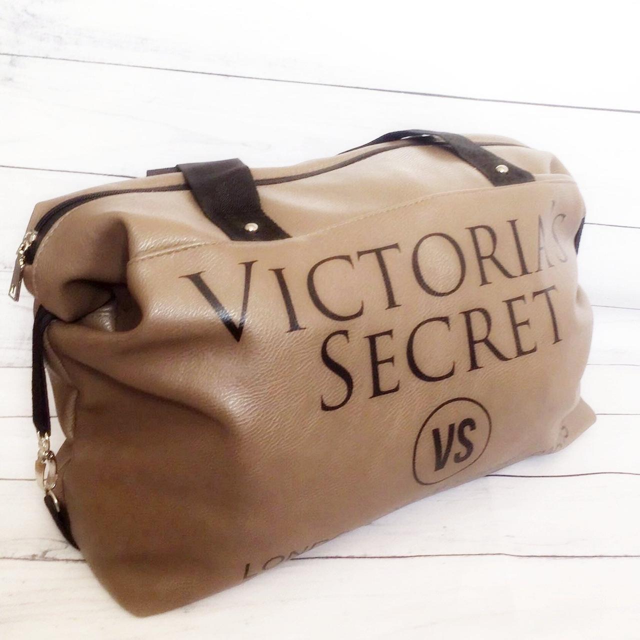 Спортивная сумка Victoria's Secret (Виктория Сикрет), бежевая
