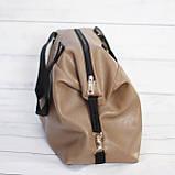 Спортивная сумка Victoria's Secret (Виктория Сикрет), бежевая, фото 4