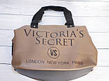 Спортивная сумка Victoria's Secret (Виктория Сикрет), бежевая, фото 6