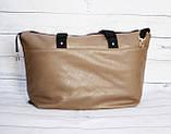 Спортивная сумка Victoria's Secret (Виктория Сикрет), бежевая, фото 8