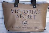 Спортивная сумка Victoria's Secret (Виктория Сикрет), бежевая, фото 9