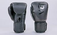 Перчатки боксерские PU на липучке VNM BO-8352-BK (р-р 8-12oz, черный)
