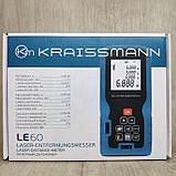 Лазерный дальномер Kraissmann LE60 До 60 метров, фото 5