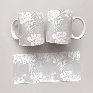 Чашка, Кружка Цветы №69 (растения, цветы, флора, узоры)