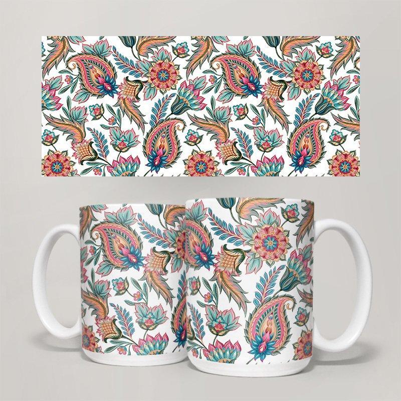 Чашка, Кружка Цветы №66 (растения, цветы, флора, узоры)
