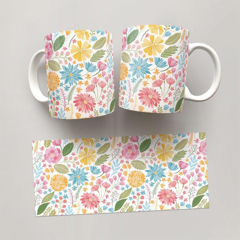 Чашка, Кружка Цветы №65 (растения, цветы, флора, узоры)