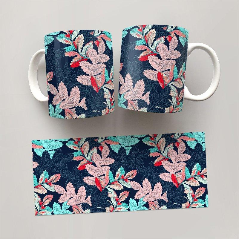 Чашка, Кружка Цветы №49 (растения, цветы, флора, узоры)