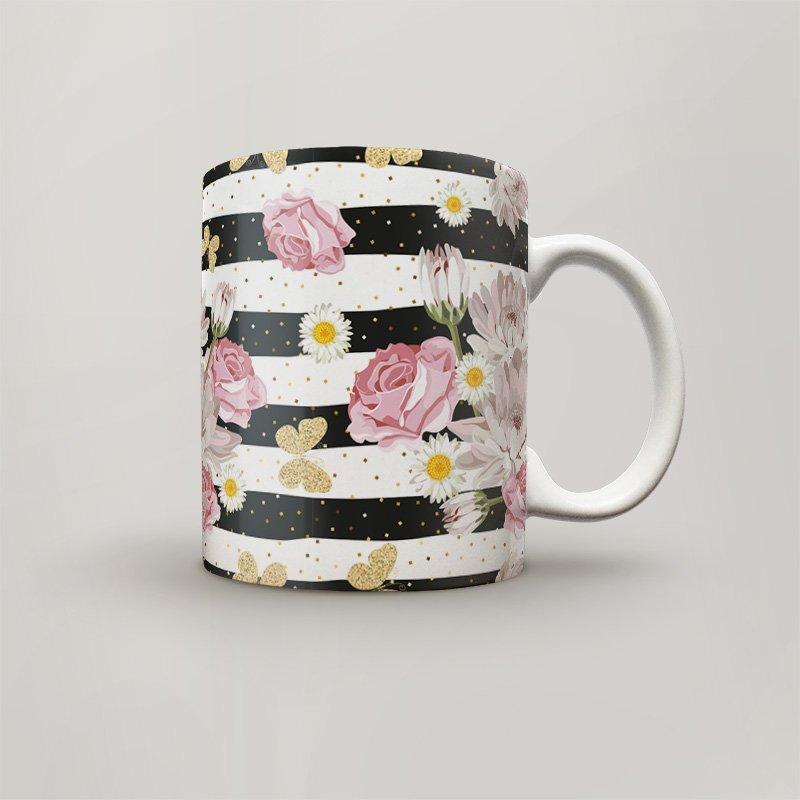 Чашка, Кружка Цветы №38 (растения, цветы, флора, узоры)