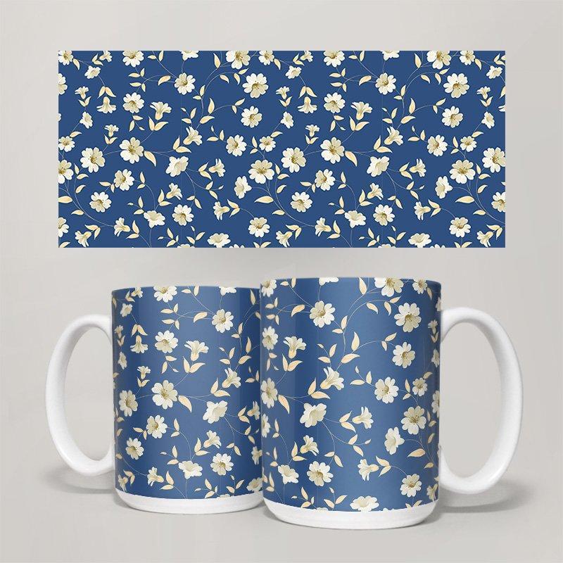 Чашка, Кружка Цветы №36 (растения, цветы, флора, узоры)
