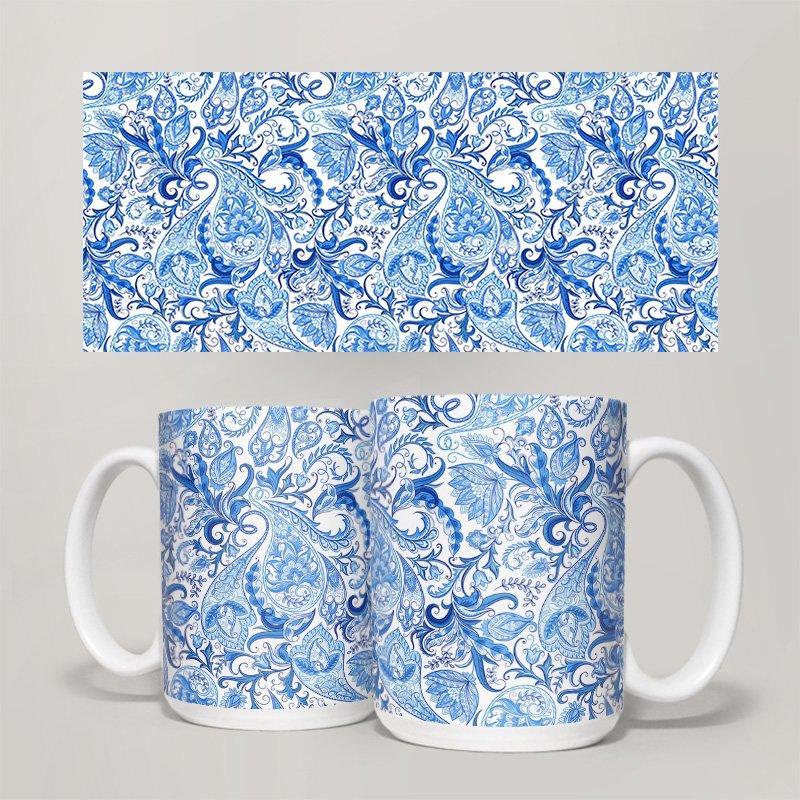 Чашка, Кружка Цветы №34 (растения, цветы, флора, узоры)