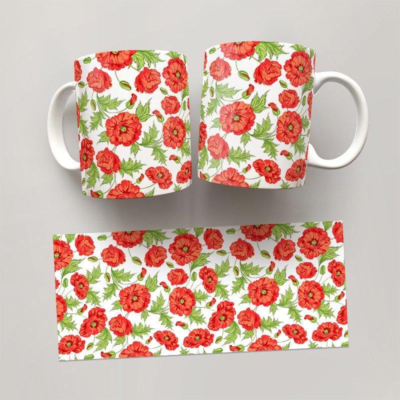 Чашка, Кружка Цветы №33 (растения, цветы, флора, узоры)