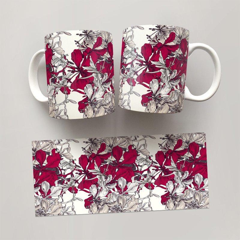 Чашка, Кружка Цветы №24 (растения, цветы, флора, узоры)