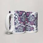 Чашка, Кружка Цветы №23 (растения, цветы, флора, узоры), фото 4